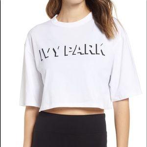 Ivy Park Cropped Cotton Logo T-Shirt XS